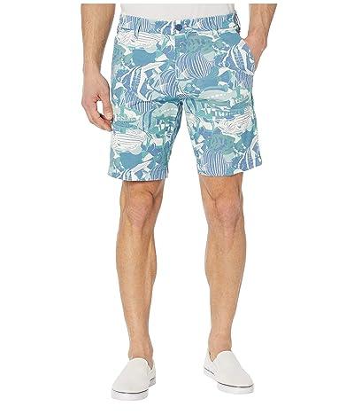 Dockers Supreme Flex Ultimate Shorts (Tropical Blue Fish) Men