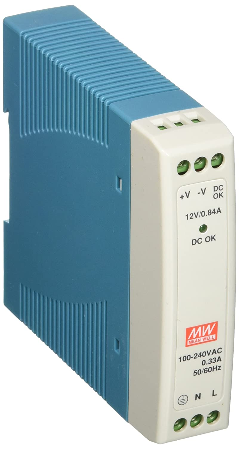 Mean Well MDR-10-12 Power Supply, DIN, 10 W, 12V/0.84 Amp, 3.9