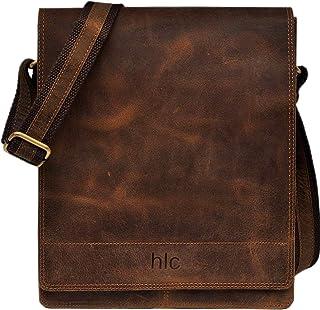 Leather Messenger Satchel Laptop Bag for Men's and Women's Leather Satchel Laptop Messenger Unisex Ipad Mini Laptop Bag