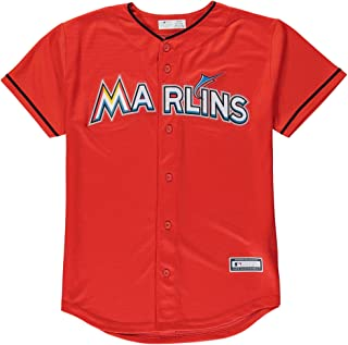 Outerstuff Miami Marlins Blank Orange Youth Cool Base Alternate Team Jersey