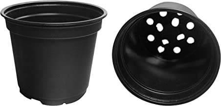 20 NEW 6 Inch Teku Plastic Nursery Pots - Standard ~ Pots ARE 6 Inch Round At the Top and 5 Inch Deep. Color: Black
