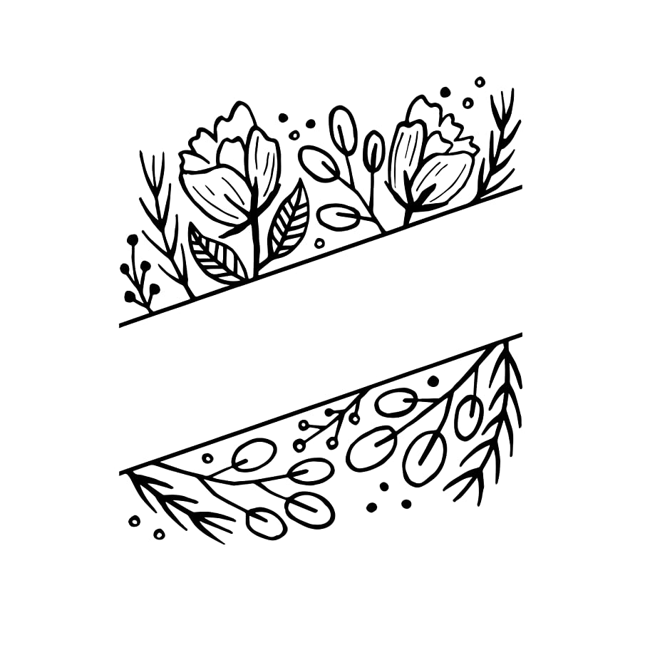 Darice 30041330 Embossing Folder: Floral with Blank Space
