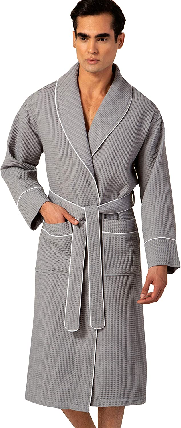 Men's Waffle Robe Ranking TOP19 half with Piping Cotton – Fu Lightweight