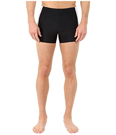 Speedo Fitness Splice Square Leg (Black/Black) Men