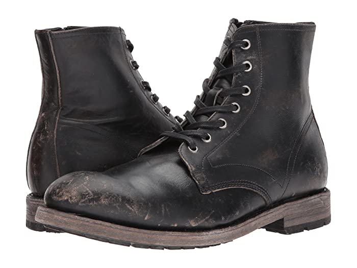 1920s Men's Clothing Frye Bowery Lace-Up Black Stonewash Mens Lace-up Boots $357.95 AT vintagedancer.com