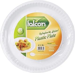 Falcon Plastic Plate 26 cm M7-25 Pieces
