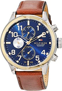 Tommy Hilfiger Multifunction Brown Leather Men's Watch- TH1791137J