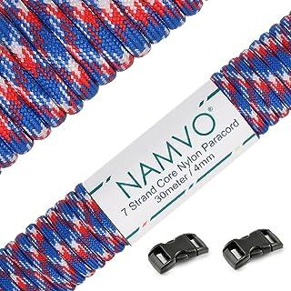 550 LB environ 30.48 m environ 249.48 kg Bracelet Camping Kit de Survie Corde Cordon Rouge Bleu Blanc Paracord 100 ft