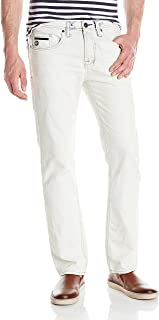 Buffalo David Bitton Mens bm18990 Six Slim Straight Leg Jean in Lucas Blue Jeans