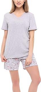 Pijama Conjunto Camiseta y Pantalones Ropa de Cama Mujer MS10-231