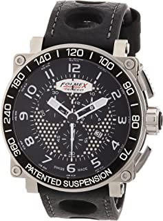 Formex 4 Speed - A780 7801.3122 - Reloj de Caballero de Cuarzo, Correa de Piel Color Negro (con cronómetro)
