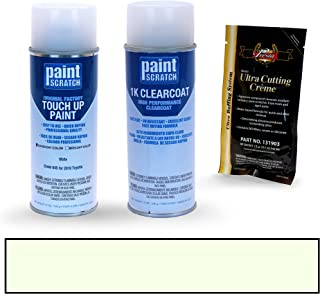 PAINTSCRATCH White 045 for 2010 Toyota Corolla - Touch Up Paint Spray Can Kit - Original Factory OEM Automotive Paint - Color Match Guaranteed