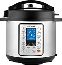 Nutricook Smart Pot Prime by Nutribullet 1200 Watts 10 in 1 Instant Programmable Electric Pressure Cooker, 8 Liters, 16 Smart Programs, GT806-M09, Silver/Black, 2 year manufacturer warranty