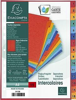 INTERCALAIRES INDEXES - 15 TOUCHES 1 A 15