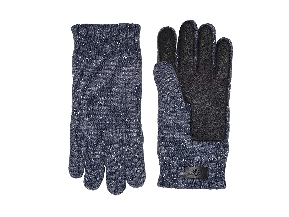 UGG Knit Conductive Leather Gloves (Oceanic Heather) Extreme Cold Weather Gloves