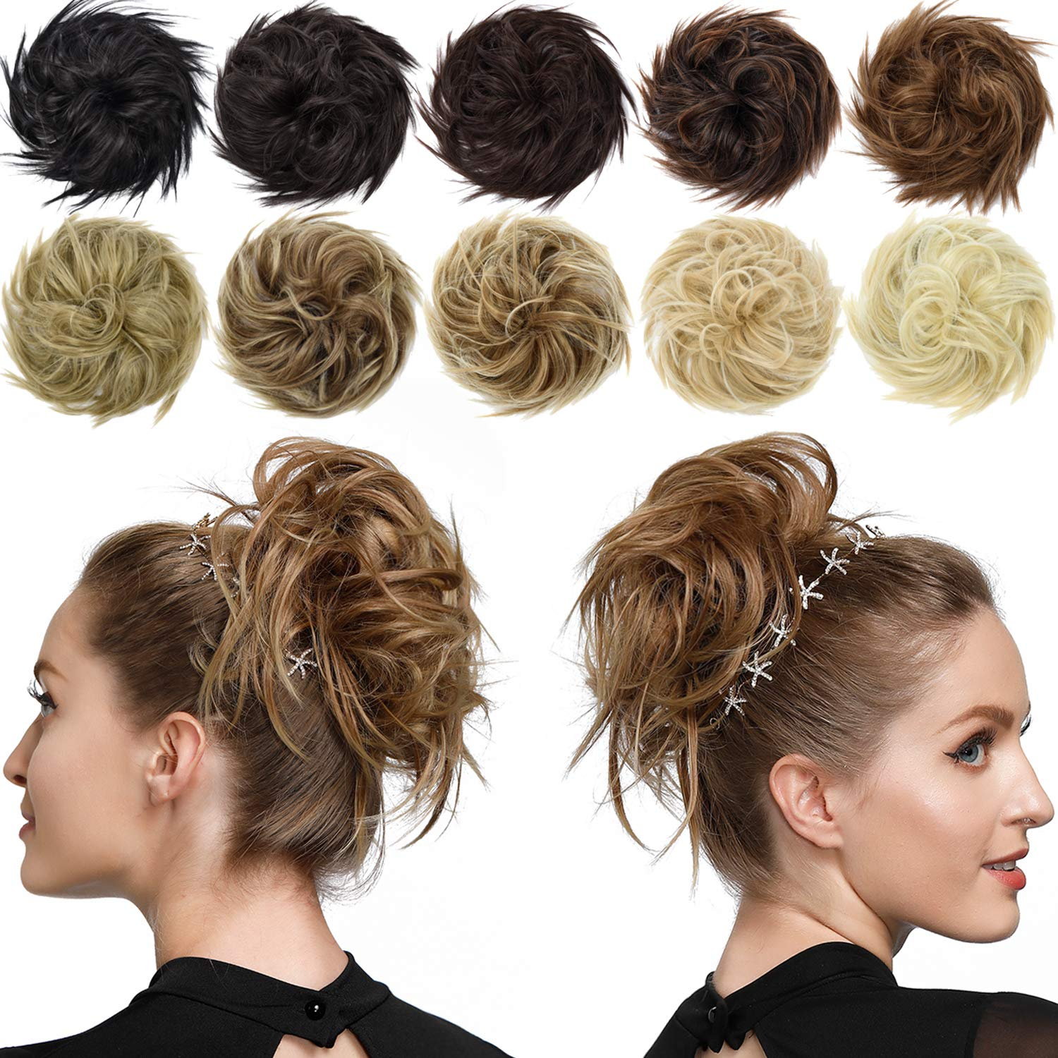 ROSEBUD Messy Bun Long Beach Mall Hair Piece Limited time cheap sale Scrunchy Extensions Synthetic T