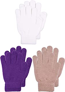 PZLE Kids Magic Gloves Knit Cashmere Winter Warm 2/3 Pairs