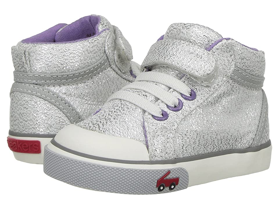 See Kai Run Kids Peyton (Toddler) (Silver Glitter) Girl