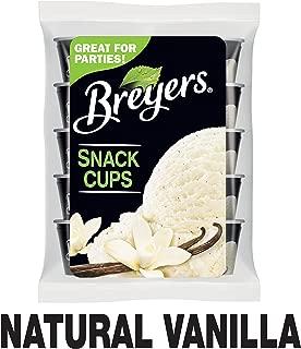Breyers Ice Cream, Natural Vanilla Snack Cups, 3 oz, 10 ct