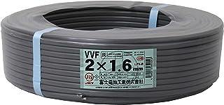 富士電線工業 低圧配電用ケーブル(VV-F) 2C×1.6mm(灰)100m