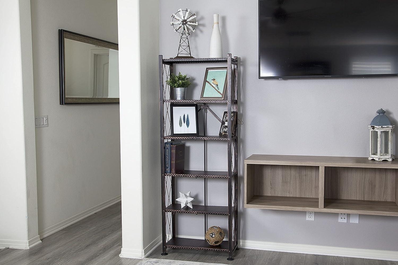 Origami 6-Shelf Bookcase Open Style Larg Max 82% OFF Max 77% OFF Rack Deco Organizer