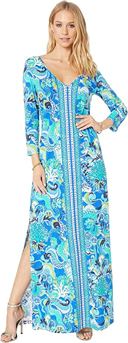 Blue Grotto Sirens and Spirits Engineered Maxi Dress