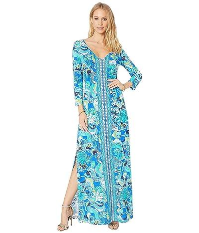 Lilly Pulitzer Anissa Maxi Dress (Blue Grotto Sirens and Spirits Engineered Maxi Dress) Women