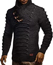 LEIF NELSON Men's Knit Sweater   Knitted Pullover With Shawl Collar   Men's Comfortable Sweatshirt Slim Fit   LN5575