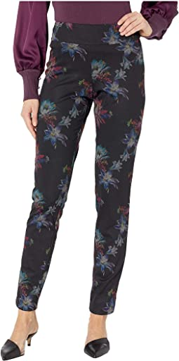 Pull-On Printed Ponte Long Pants