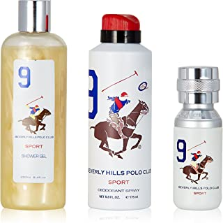Beverly Hills Polo Club Gift Set 9 for Men (Eau De Toilette, Body Wash and Deodorant)