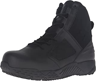 Under Armour Men's Zip 2.0 Protect Military and Tactical Boot, Black/Black/Black