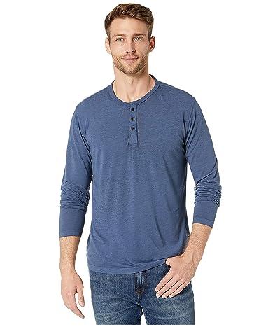 Lucky Brand Venice Burnout Henley (Blue) Men