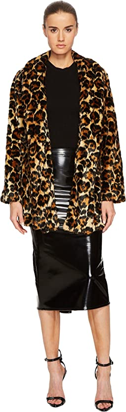 McQ - Long Leopard Fur Coat
