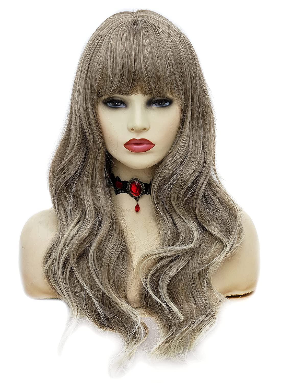 Rugelyss Fashion Ash Blonde Gray Max 42% OFF Long Resistant Heat Synthetic Cosp Wigs