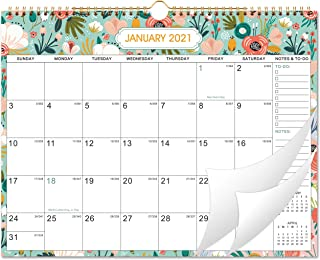 "2021 Wall Calendar - Monthly Wall Calendar 2021 with Julian Dates, 15"" x 11.5"", Jan 2021 - Dec 2021, Twin-Wire Binding, Bl..."
