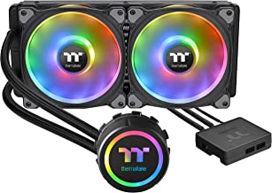 Thermaltake Floe DX 280 Dual Riing Duo 16.8 Million Colors RGB 36 LED LGA1200 AM4 Ready Intel/AMD Liquid Cooling All-in-On...