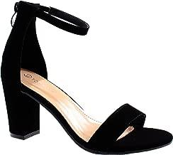 Top Moda Women's Hannah-1 Ankle Strap High Heel Sandal