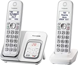 Panasonic KX-TGD532W Cordless Phone with Answering Machine - 2 Handsets (Renewed)