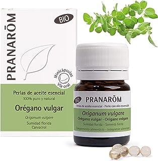 Pranarom - Perlas Bio de Aceite Esencial de Orégano Vulgar, Sumidad Florida,n60 Minicápsulas