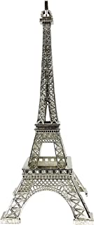 "allgala 10"" Eiffel Tower Statue Decor Alloy Metal, Silver"