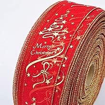 YYBGZ 6.3cm Ancho 2M Longitud Cintas Decorativas navideñas Cinta de Raso en Polvo Cintas artesanales Decoración de árboles de Navidad Hacer Arcos Rojo 6.3 * 200cm