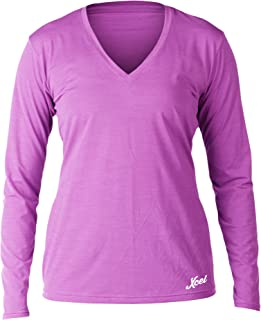 XCEL Women's Pupukea V-Neck UV Long Sleeve, Heather Rose Violet, Large