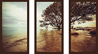 Picture Perfect International Lonely Tree Framed Plexiglass Wall Art Set of 3