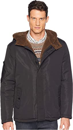 Softshell Faux Shearling with Hood
