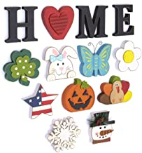 The Lakeside Collection Wooden Decorative Home Signs with Letters, Pumpkin, Turkey,..
