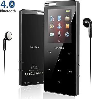 comprar comparacion SVMUU Reproductor MP3 MP4 Bluetooth 8 GB, Reproductor de Música Deporte 1.8 Pulgadas Cuerpo Efecto Espejo y Botón Táctil R...