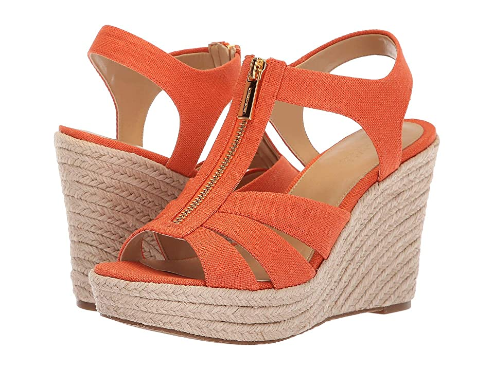 MICHAEL Michael Kors Berkley Wedge (Tangerine) Women