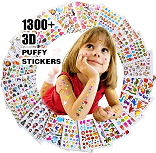 Stickers for Kids 1300+, 20 Different Sheets, 3D Puffy Stickers, Scrapbooking, Bullet Journals, Stickers for Adult, Including Animals, and More,Christmas Stickers for Kids.