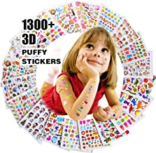 Pegatinas para niños 1500+, 20 hojas diferentes, 3D pegatinas hinchadas, Scrapbooking, Bullet Journal