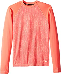 Nike Kids - Rush Heather Long Sleeve Hydroguard (Big Kids)